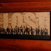 LOST art- woodburned home decoration