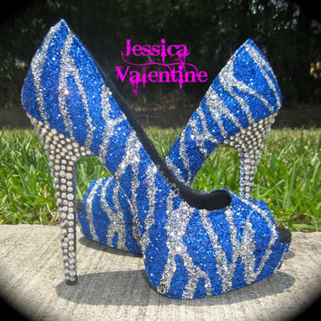 Dallas Cowboys Glitter Heels by RippedClothing on Etsy