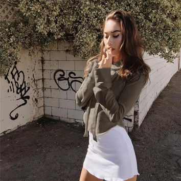 Women's Fashion Spring Summer Pullover Hoodie Top  [8838128333]