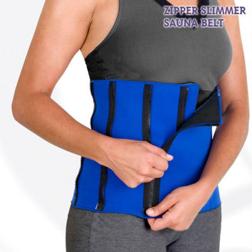 Zipper Slimmer Sauna Belt Sports Girdle