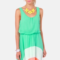 The Crest is History Mint Color Block Dress