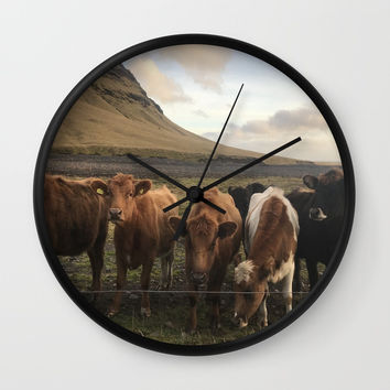 Moo Wall Clock by nataliebobatalie