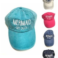 Mermaid Off Duty Baseball Cap
