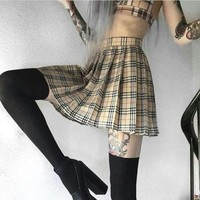 Harajuku Plaid Mini Skirts