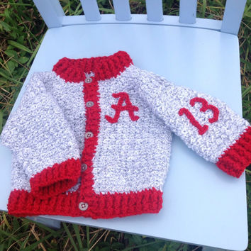 Sweater, baby sweater crocheted, lettermans jacket, sports sweater