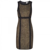 MICHAEL Michael Kors Metallic Tweed Shift Dress MICHAEL Michael Kors 0 by Olivia Dello Buono