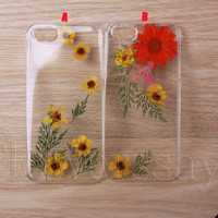 iPhone 6 case iPhone 6 plus Pressed Flower, iPhone 5/5s case, iPhone 4/4s case,  5c case Galaxy S4 S5 Note 2 note 3 Real Flower case NO:F493