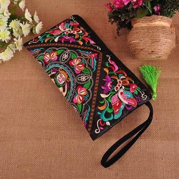 Boho Embroidered Floral Wallet/Clutch 2 Styles!