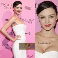 Celebrity Inspired White Bandage Strapless Dress by BQueen