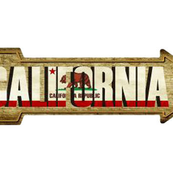 Smart Blonde California State Novelty Metal Arrow Sign A-198