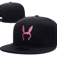 JASOND Bob's Burger Bunny Ears Adjustable Snapback Embroidery Hats Caps