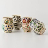Handpainted Folk Owl Mug - Anthropologie.com