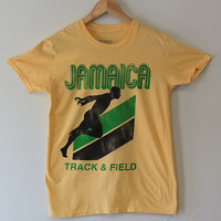 Jamaica Track & Field T-Shirt Weasel Vintage Destination Shirt
