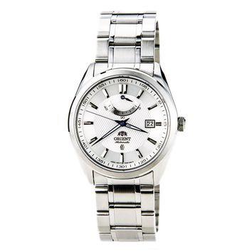 Orient FD0F001W Men's Vintage Textured White Dial Stainless Steel Power Reserve Automatic Watch
