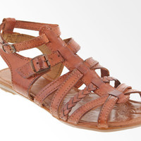 Women's 100% Genuine Leather Brown Cognac Gladiator Sandals Huaraches