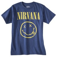Nirvana Men's Graphic Tee - Blue