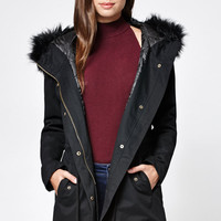 LA Hearts Faux Fur Hooded Anorak Jacket at PacSun.com