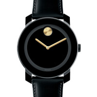 Men's 42mm Bold Watch, Black/Gold - Movado Bold - Gold (42mm)