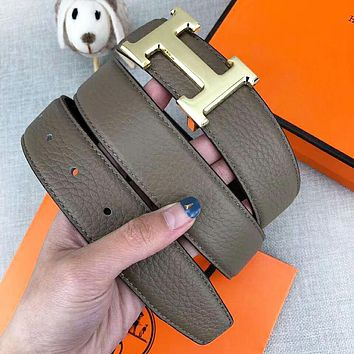 Hermes New fashion letter buckle leather belt