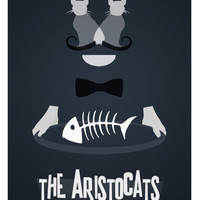 Disney's The Aristocats Minimalist Poster by rowansm on Etsy
