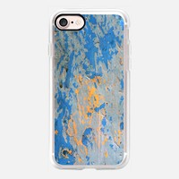 Abstract in blue iPhone 7 Carcasa by littlesilversparks | Casetify