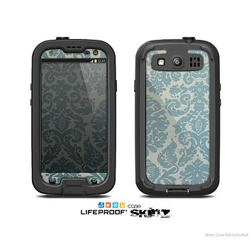 The Subtle Green Lace Pattern Skin For The Samsung Galaxy S3 LifeProof Case