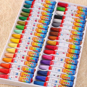 Selling 12 color 24 color 36 color oil pastel crayons colored pencils stationery Cartoon Children Gift Set