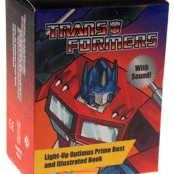 Transformers Light Up Optimus Prime Bust Figure Book Mini Kit