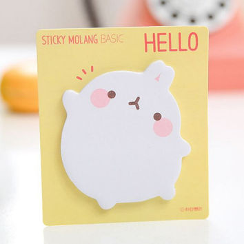 Memo Pads Sticky Notes Labels| Bookmark Stationary Paper | School Office Supplies  | Removable Adhesive Fat Rabbit Cute Korean Post-It M32