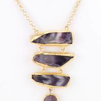 Turkish Ladder Necklace - Purple