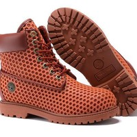 Timberland Women Orange and red 6 Inch Premium Honeycomb Breathable Boots