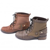 Brown Lorena Lace Boots