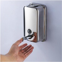 500Ml Stainless Steel Soap Dispenser For Detergent Kitchen Hand Foam Dispenser Wall Soap Dispenser For Kitchen Washroom