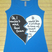 Ladies Jersey Tank Top Oh, I Wouldn't Mind, Hazel Grace The Fault In Our Stars