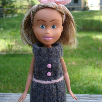 Made Under Rescued Bratz Doll Upcycled Repainted OOAK Handmade Clothes Reclaimed Upcycled Sweater