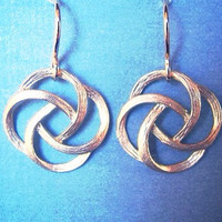 Gold Knot Drop Earrings