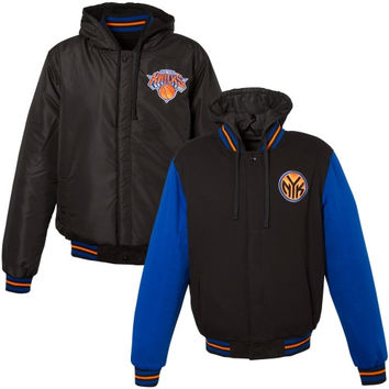 New York Knicks Reversible Hooded Jacket – Royal Blue