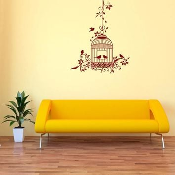 Romantic Bird Cage Wall Decal