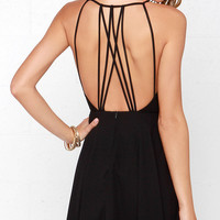 Strappy Together Black Dress