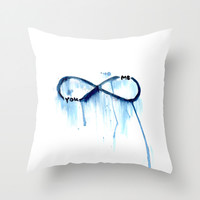 me and you Throw Pillow by Sara Eshak