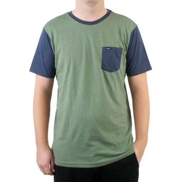 RVCA - Change Up Army Fade Adult Ringer T-Shirt