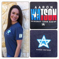Aaron Watson Store Heather Navy AW Shirt - $20.00