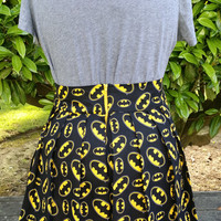 Batman Pleated Skirt