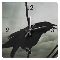 Crow/Raven Wall Clock from Zazzle.com