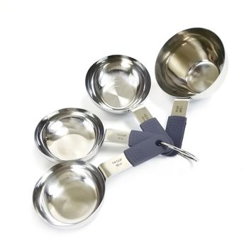 4 Pcs Measuring Cups with Silicone Soft Grip
