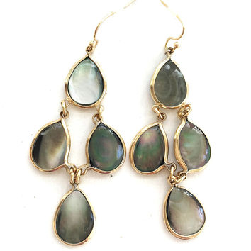 Natural Shell Chandelier Earrings