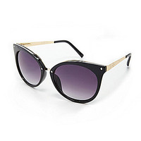 Jessica Simpson Metal Temple Cateye Sunglasses - Tortoise