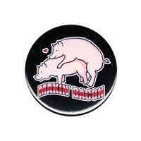 Makin Bacon Funny Button Badge