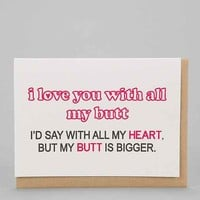 Silly Reggie Greeting Cards I Love You With All My Card- Assorted One