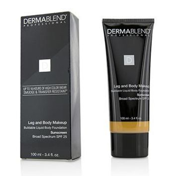 Dermablend Leg and Body Make Up Buildable Liquid Body Foundation Sunscreen Broad Spectrum SPF 25 - #Tan Honey 45W Make Up